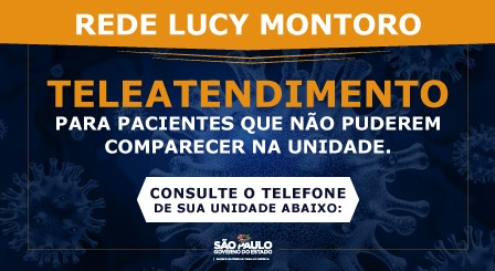 COVID-19 – REDE DE REABILITAÇÃO LUCY MONTORO – COMUNICADO
