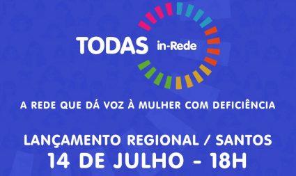"""Secretaria lança """"TODAS in-Rede"""" em Santos"""