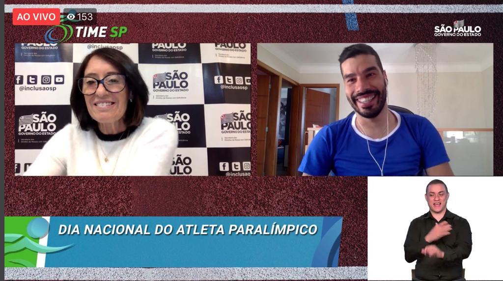 Secretaria realiza live com atleta Daniel Dias em celebração ao Dia do Atleta Paralímpico