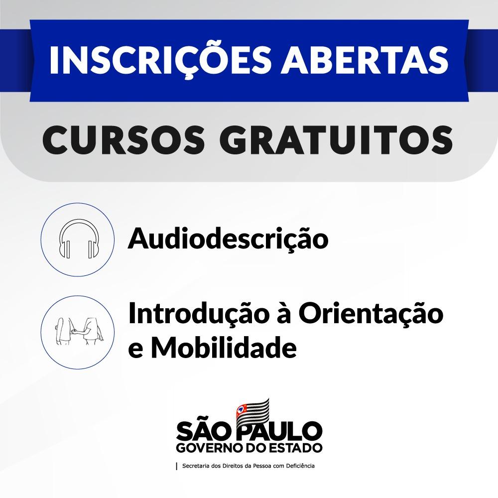Secretaria realiza cursos à distância de Audiodescrição e Orientação e Mobilidade