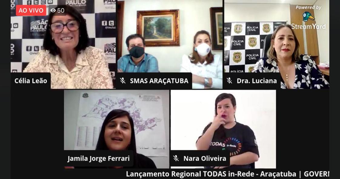 """Araçatuba recebe lançamento regional do Programa """"TODAS in-Rede"""""""