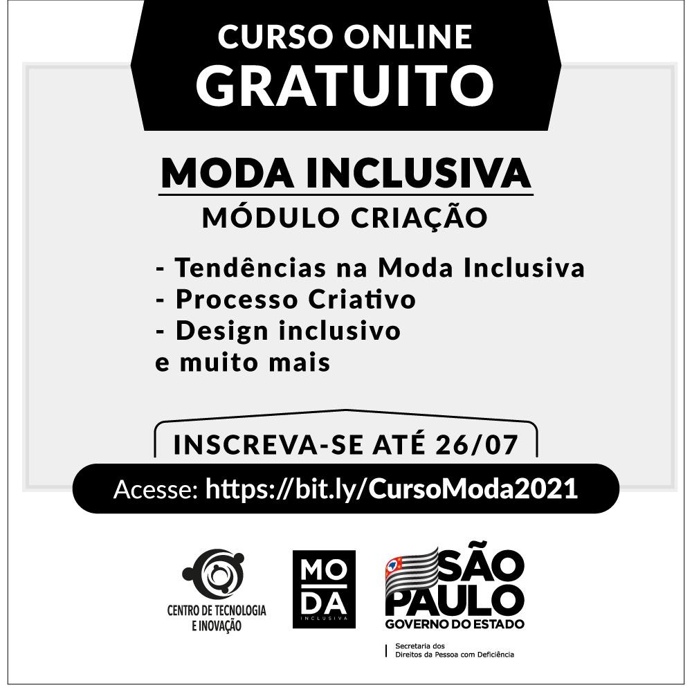 Secretaria abre inscrições para curso online gratuito de Moda Inclusiva – Módulo Criação