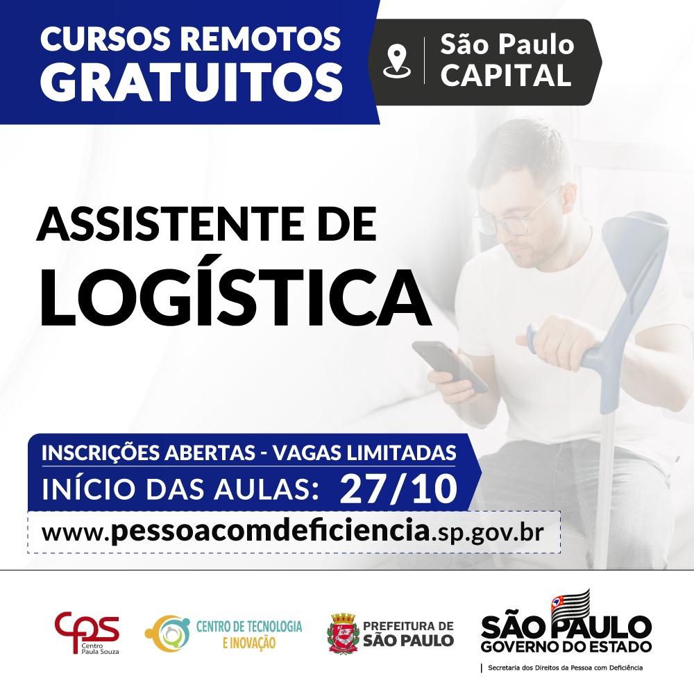 Secretaria oferece curso de Assistente de Logística gratuito às pessoas com deficiência da Capital
